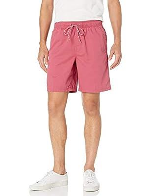 """Amazon Essentials Men's 8"""" Inseam Drawstring Walk Short, Washed Red, Medium"""