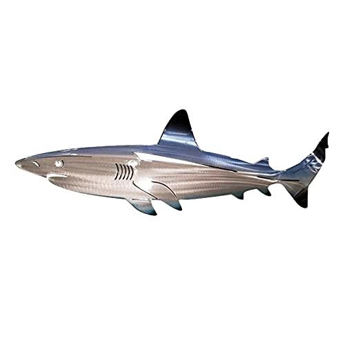 GYAM Arte De La Pared De Metal De Tiburón, Decoración De Pared De Metal De Tiburón Hecha A Mano,...
