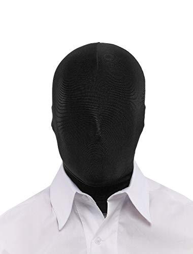 Insun Máscara Elástica Pasamontañas Ligero para Cosplay Zentai Disfraz Negro Cubierta Completa