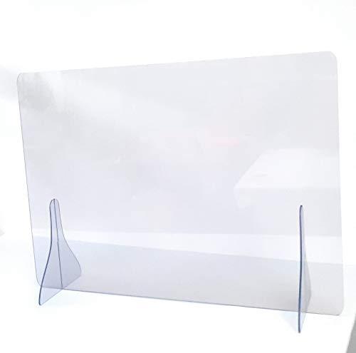 Dundi Mampara mostrador sin Ventana protección, 78x70 cm y de 4 mm de Grosor
