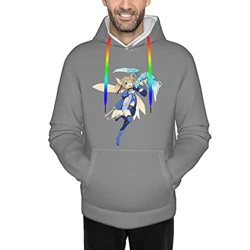 メンズパーカー ソードアート・オンライン ガールズ・オプス 長袖 快適に感じます カジュアルパーカー 高弾力性フード付きtシャツ カンガルーポケット フード付きでカラフルな神の帽子のロープ プルオーバー