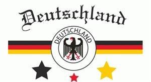 Deutschland Fussballfahne weiss conv3 Fahne Flagge Grösse 1,50 x 0,90m