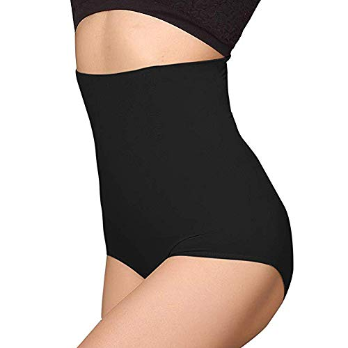 ANGOOL Damen Miederslip Butt Lifter Shaper figurenformend Shapewear Schlichte Taillenformer mit Bauch-Weg-Effekt, Schwarz, M