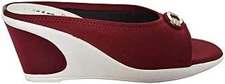 ELITE Women's Platform Heel Wedges,Colour: Maroon