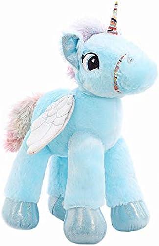 Generic Einhorn Plüsch Spielzeug MarshmalFaible Pferd Puppe Kinder Puppe Sorceic Puppe 45cm