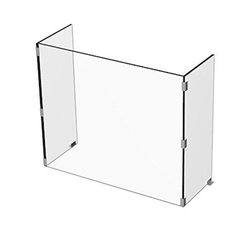 BYGZZ Farblose Plexiglas Platten, Schutzschild Niesschutz, Spuckschutz Plexiglas Aufstelle, Sichern Spuckschutz Thekenaufsatz Mit Durchreiche(70 * 25 * 60cm*10mm)