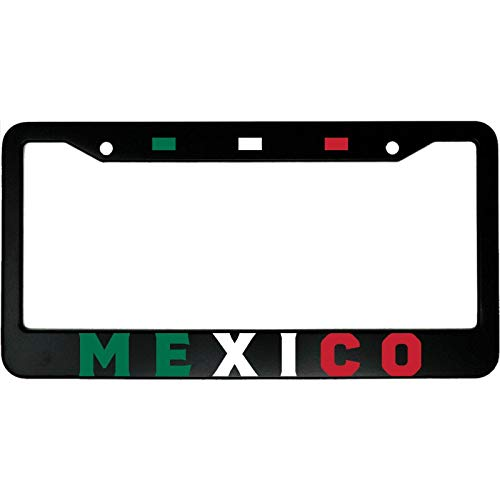 yoohome Metal License Plate Frame Mexico Flag Mexican Pride Aluminum Car License Plate Frame Car Tag Frame