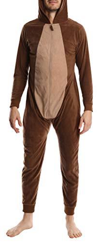 Adult Mens Novelty Halloween Costume Fleece Pajama Jammies Onesie Onsie Reindeer L