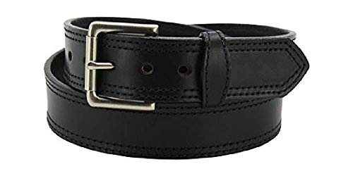 Bullhide Belts Mens Leather Casual & Dress Belt, USA Made (Black, 38 inches)