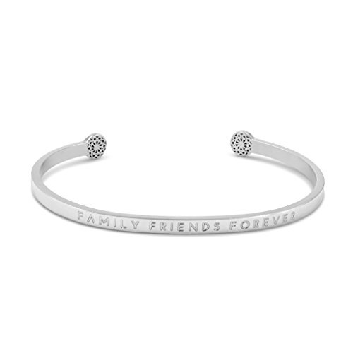 Simple Pledge - Family Friends Forever - Blind - Armreif in Silber mit Gravur für Damen