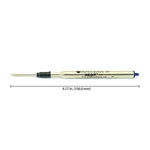 Monteverde Soft Roll Ballpoint Refill for Lamy Ballpoint Pens, Blue/Black, 2 Pack (L132BB) Photo #2