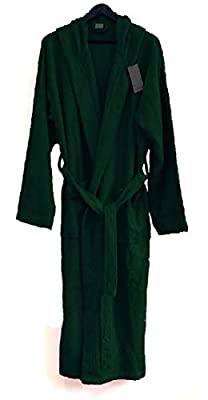 Heavy 3 Pound Hooded Terry cloth Bathrobe. 50.5 Inch Length. 100% Turkish Cotton