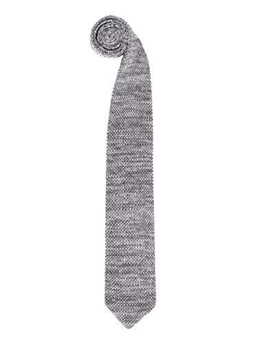 WANYING Herren 6cm Schmale Strickkrawatte Gestrickte Narrow Krawatte Retro Sporty Casual Büro Basic für Gentleman - Dunkelgrau & Hellgrau