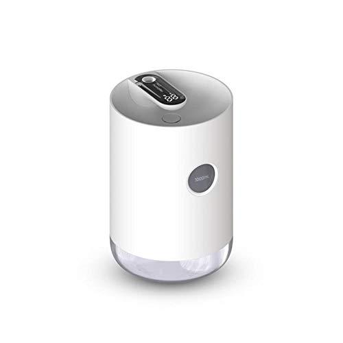 USB-oplader Luchtbevochtiger Nachtlampje Luchtzuiveringsinstallatie voor thuis Tweevoudige aanpassing Luchtbevochtiger met LED-vermogensdisplay, wit