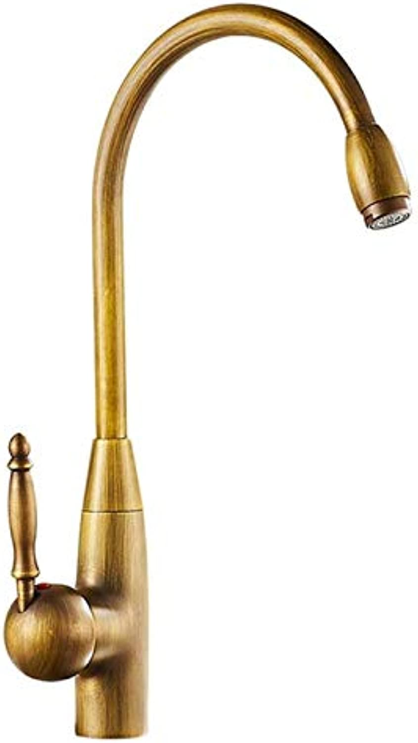 Brass Kitchen Faucet, Kitchen Faucet Faucet hot and Cold Kitchen Sink tap Faucet with redating Brass Bathroom Sink Faucet