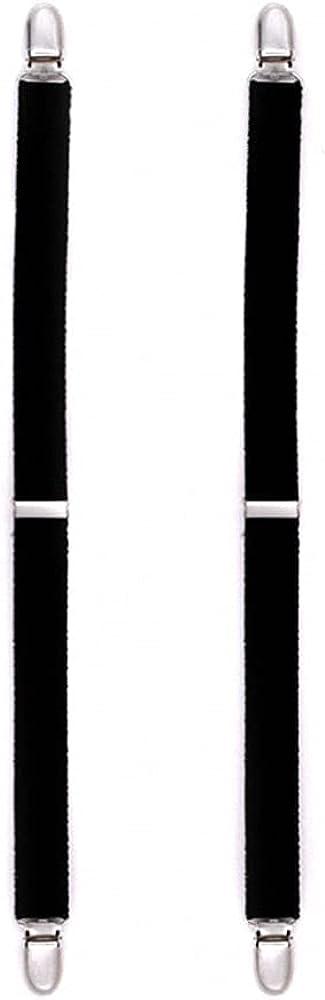 Men Shirt Stays Suspenders Holder Elastic Y Shape Uniform Braces Shirts Garters