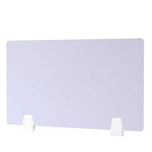 HEFUTE Weiß Akustik-Schreibtisch Trennwand, Schalldämpfend,Cubicle Panel mit 2 Klemmhalterungen Schalldämpfende Trennwand, Schreibtisch Trennwand-Privatsphäre