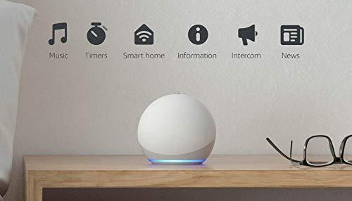 Echo Dot (4th generation)   Smart speaker with Alexa   Glacier White