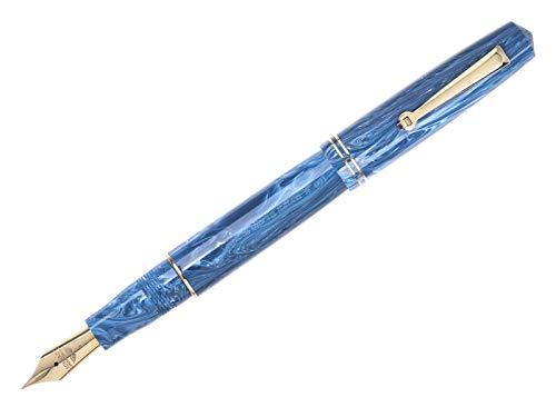Leonardo Officina Italiana Momento Zero Blue Positano - Pluma estilográfica Stub 1.5