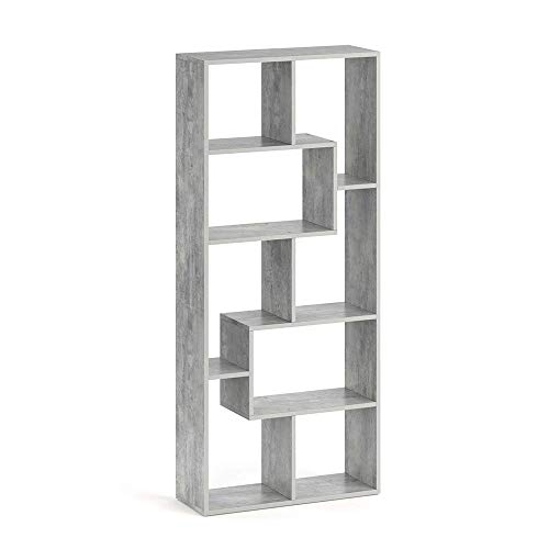 Vicco Raumteiler NOA Bücherregal Standregal Aktenregal Hochregal Aufbewahrung Regal +++Verschiedene Dekore +++ (Beton Optik)