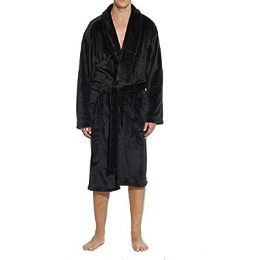 #followme 46901-BLK-XL Velour Robe/Robes For Men