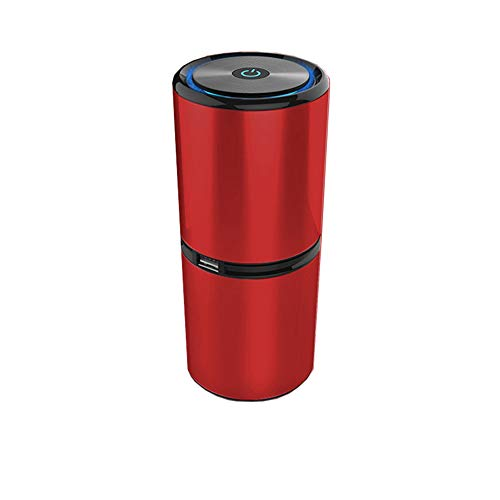 Purificador de Aire sin ozono, Filtro HEPA y de carbón Activo, purificador de Aire para Polvo, olores metímicos, Humo, alergias, bacterias, Animales domésticos, Rojo