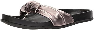 Very Volatile Women's Glaze Slide Sandal, Pewter, 9 B US