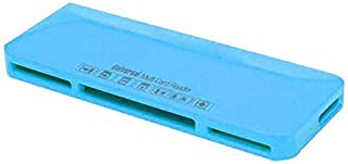 Trands Multi Card Reader for Micro SD, SDHC, SDXC, Micro (M2), MS DUO, MS PRO DUO, CF I/II/III With Micro USB Cable, Blue