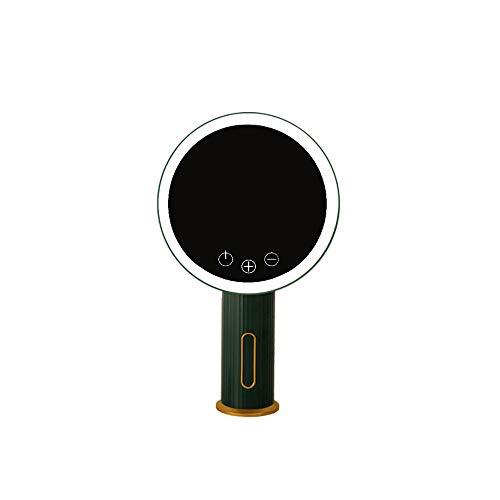 CZFSKCZ 1 PZ Specchio di Trucco ingrandimento con luci, Base per casa Bagno Doccia e Viaggi.Colore: Verde, Dimensioni: 19 * 31. 5 * 7 cm