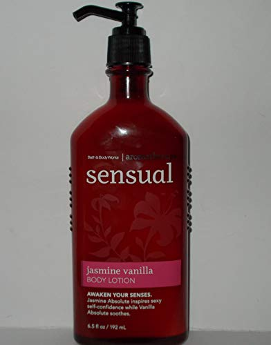 Bath & Body Works Aromatherapy Sensual Jasmine Vanilla Body Lotion 6.5 Oz.
