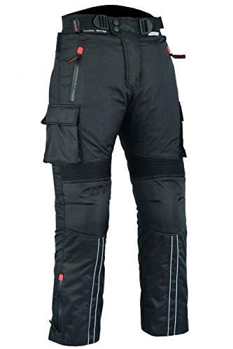 BULLDT Motorradhose Cargo Textilhose Cargohose Schwarz, Größe:50/M