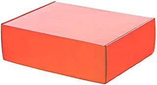 9x6 MAILER BOX: Set of 10 Colored Mailing Boxes - BRIGHT ORANGE- Size 9