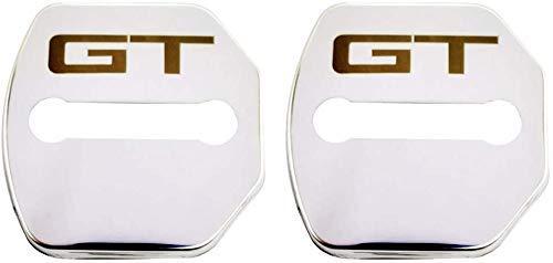 IPOLK Autotürschlösser, Schutzabdeckung, 2 Stück, für Ford Mustang GT 2015–2019 Edelstahl-Türschloss