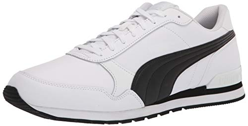 PUMA ST Runner V2, Zapatillas Unisex Adulto, Blanco y Negro, 35.5/37.5 EU