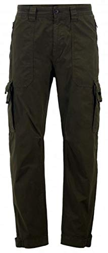 BOSS Tapered-Fit Cargohose Sargo aus doppelt gefärbter Baumwoll-Popeline dunkelgrün 346 (52)