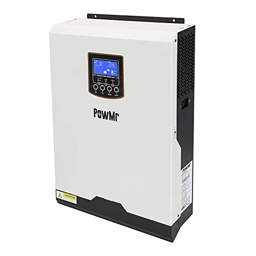 PowMr 5000W Hybrid Inverter Single Phase 48v DC to 230V AC Built-in 50A PWM Solar Charge Controller,Pure Sine Wave Inverter Support Utility/Generator/Solar Charge for Lead Acid