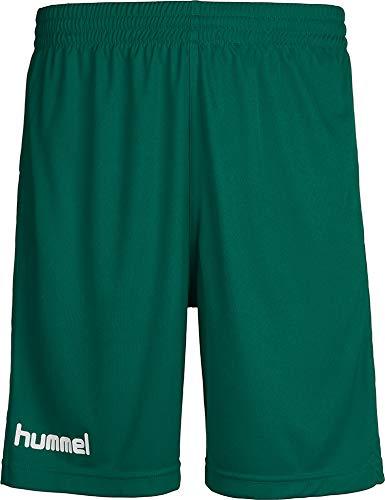 hummel Jungen Sporthose Kurz-Core Poly Shorts-Trainingshose Herren Hohe Bewegungsfreiheit-Laufshorts, Evergreen Pr, 140-152 (L)