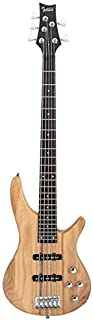 $158 » Bass Glarry GIB Electric 5 String Bass Guitar Full Size Bag Strap Pick Connector Wrench Tool Burlywood