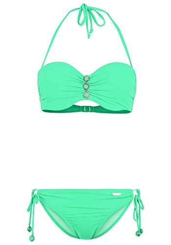 Lascana Bikini con aros para mujer. verde menta 36