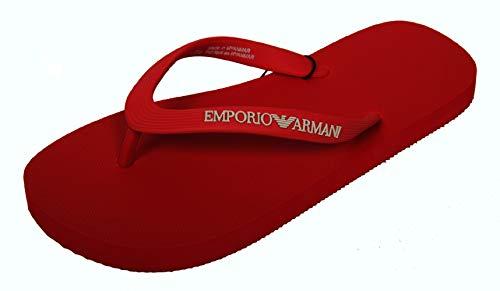 Emporio Armani Flip Flop Damen Frau Meer Pool Beachwear Artikel X3QS04 XL827 FLIP FLOP RUBBER + EVA, M583 Flame red, EU 38 - UK 5 - USA 5,5 - CN 242/86