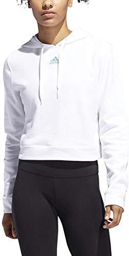 adidas Originals - Sudadera con capucha para mujer (talla L), color blanco y verde