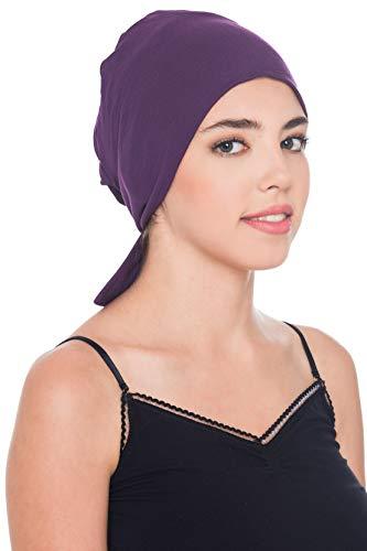 Deresina Headwear Komfort Baumwolle-Kappe Mit Binde An Der Ruckseite (Lila)