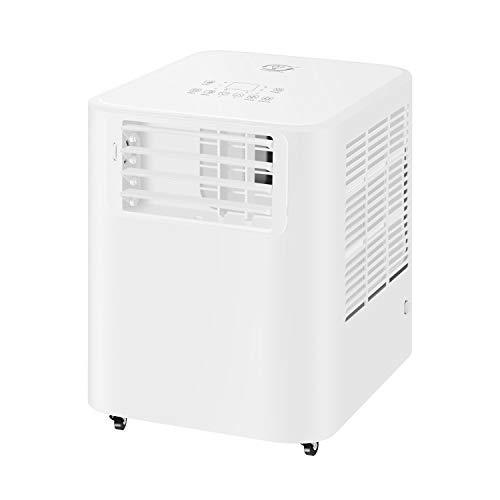 Famgizmo Climatiseur Portable, 9000 BTU Climatiseur Mobile, Refroidissement, Ventilateur, Déshumidificateur & Mode Veille, 24H Minuterie, Télécommande, Ecran LED, R290, Classe énergétique A
