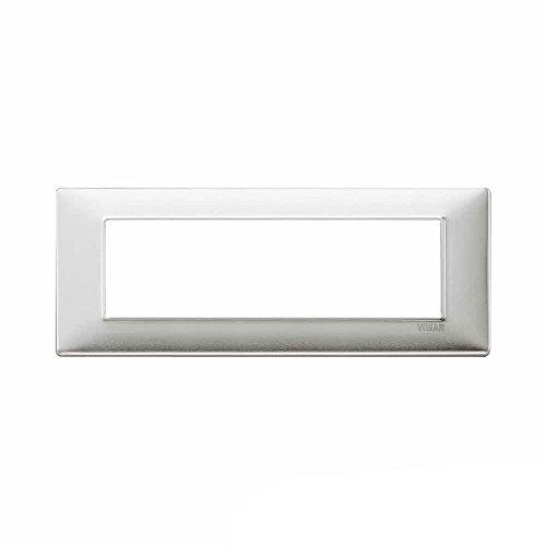 Vimar Serie piatto–Placca 7Modulo alluminio spazzolato