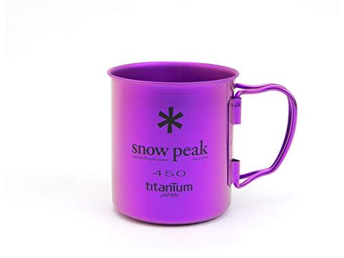 Snow Peak Ti Becher 450, Titan, Coral Reef Purple, 14 Ounce