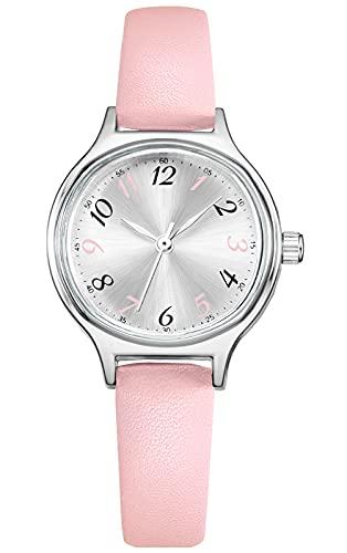 Uhren Damen Einfache Beiläufig Quarz Armbanduhr wasserdichte Lederarmbanduhr Arabische Ziffern Analoge Uhr Quarzuhr Kleideruhr für Frauen Mädchen