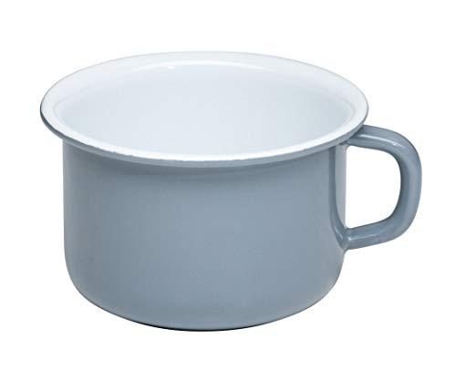 Generisch Riess, 0299-065, Kaffeeschale 10, Kaffeebecher, Classic - Pure Grey, Durchmesser 10 cm, Höhe 7,4 cm, Inhalt 0,4 Liter, Emaille, helles Grau, 0,241kg, 13,4 x 11,4 x 7,4cm