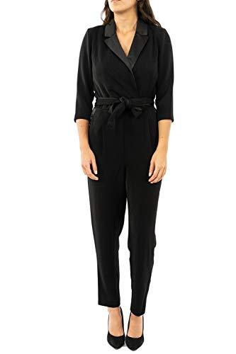 ONLY Damen ONQSOFIA 3/4 Ankle Smoking PNT Jumpsuit, Schwarz (Black Black), Medium (Herstellergröße: 38)