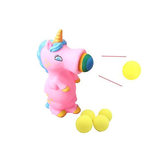 Hilai 1 Pc Unicorn Popper Kinder Kugel Popper Spielzeug Indoor- und Outdoor-Spielball Schießen...