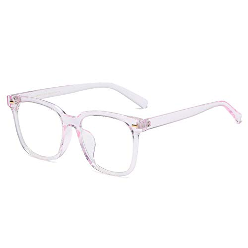 Occhiali Luce Blu Bloccanti , Quadrato Oversize Montatura Spessa Filtro Per Computer Occhiali Da 2 Confezioni, Unisex, Riduci L'Affaticamento Degli Occhi Occhiali Da Vista Senza Prescrizione, Rosa Ch